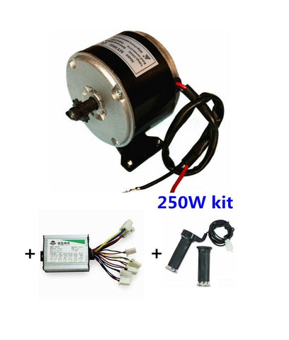 MY1016 250W Motor + Motor Controller + Twist Throttle, DIY Electric Bicycle Kit