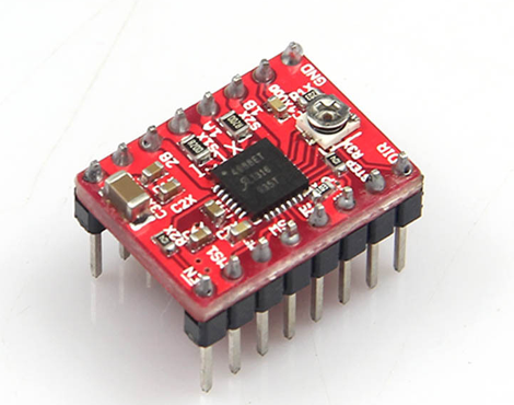 Red StepStick A4988 Stepper Motor Driver with Heatsink
