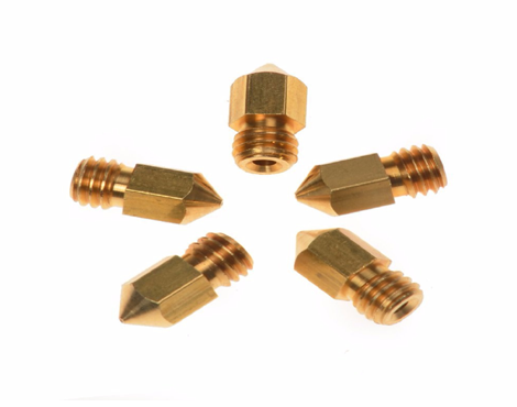 0.3 and 0.5 MM 3D Printer Extruder Brass Nozzle Makerbot MK7 MK8