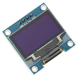 "0.96"" OLED Display Module - SPI/I2C - 128x64 - 4 Pin (White)"