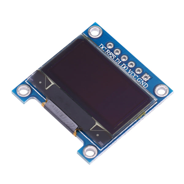 "0.96"" OLED Display Module - SPI/I2C - 128x64 - 6 Pin (White)"