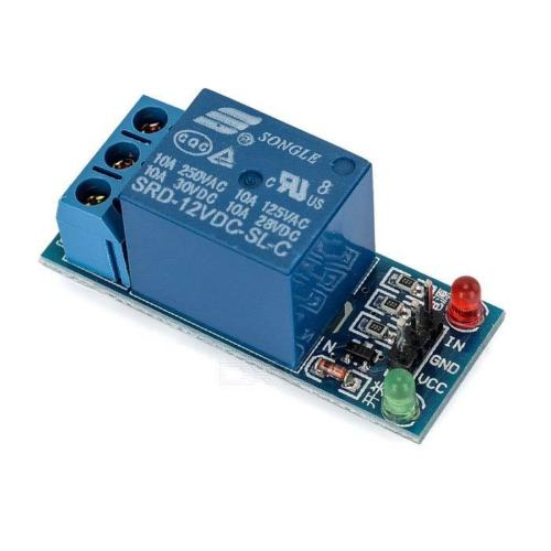 1 Channel 12V Low Level Trigger Relay Module for Arduino - Techtonics