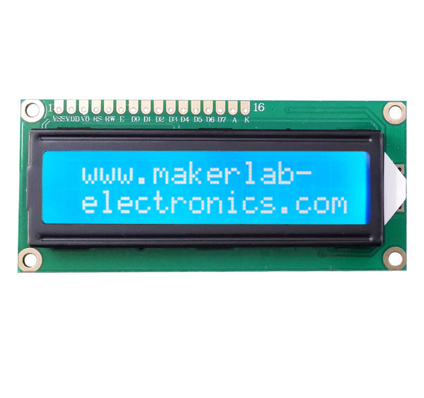 16*2 16x2 1602 White LCD display display for arduino and DIY project - Techtonics
