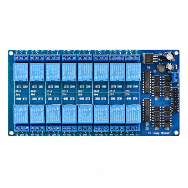 16-Channel 12V Relay Module Board W/ Power LM2576 / Optocoupler Protection