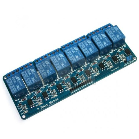 12V 10A 8 CH Channel OPTO COUPLER Relay Board Module for Arduino Raspberry Pi - Techtonics