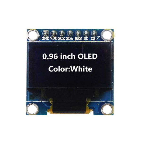 0.96 inch OLED White Display Module 128X64 OLED I2C IIC SPI 7pin Driver Chip SSD1306 for arduino Diy Kit - Techtonics