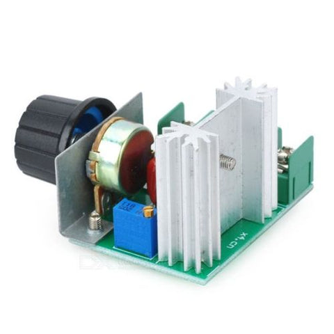 AC 220V 2000W SCR Voltage Regulator Dimming Dimmers Speed Controller Thermostat - Techtonics
