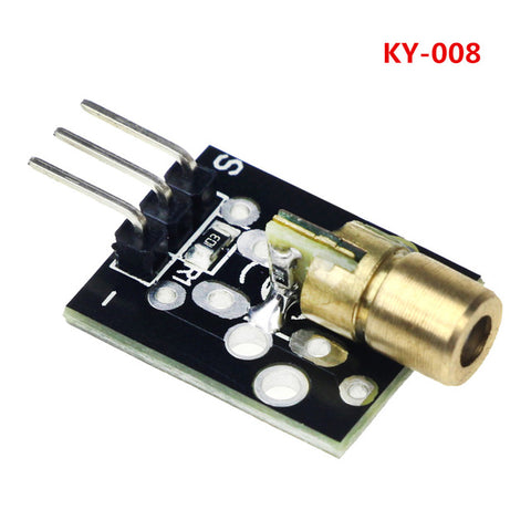Laser sensor Module 650nm 6mm 5V 5mW Red Laser Dot Diode KY-008 for Arduino Compatible with UNO MEGA 2560 - Techtonics