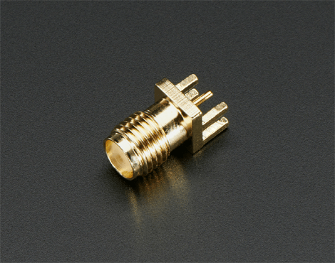 SMA Connector Female - PCB Edge Mountable 1.6mm