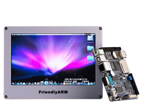 Arm11 Mini6410 S36410 Board + 7 inch TFT LCD Touch Screen