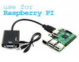 HDMI to VGA Converter for Raspberry Pi with Audio-a