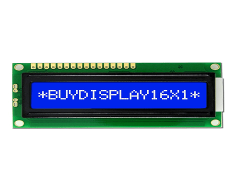 16x1 Character LCD Display Blue
