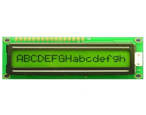16x1 Character LCD Display Green