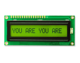 16x1 Character LCD Display Green-a