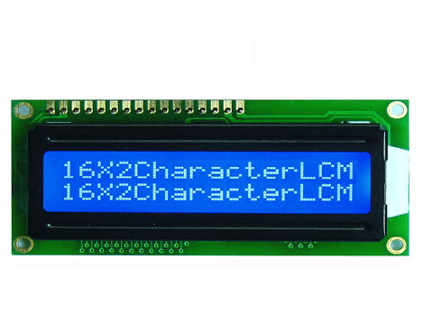 16x2 LCD Display With Blue Backlight
