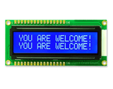 16x2 LCD Display With Blue Backlight-a