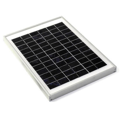 10W Solar Panel, 36 cell, Solar Plate - High Quality (10 W / 10 Watts) - Techtonics