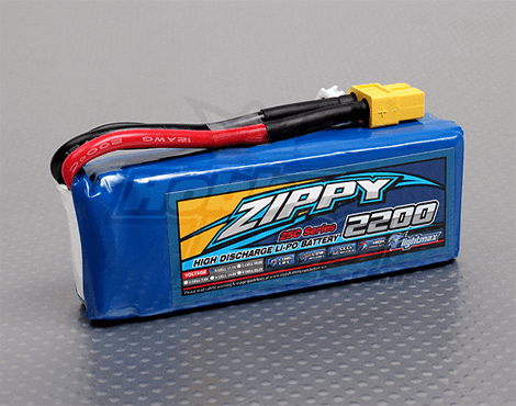 Zippy Flightmax 2200mAh 3S1P 25C 11.1V Lipo Battery
