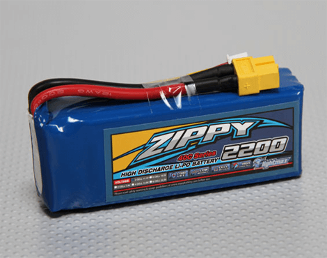 Zippy Flightmax 2200mAh 3S1P 40C 11.1V Lipo Battery