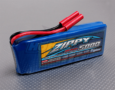 Zippy Flightmax 11.1V 5000mAh 3S1P 20C Lipo Battery