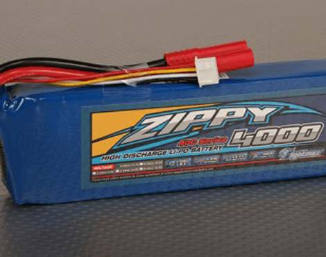 Zippy Flightmax 4000mAh 6S1P 40C 22.2V Lipo Battery