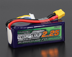 Turnigy Nano-Tech 2250mAh 4S 65~130C 14.8V LiPo Battery