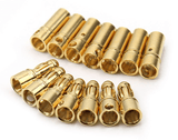 3.5 mm Male and Female Gold Plated Bullet Connector-1