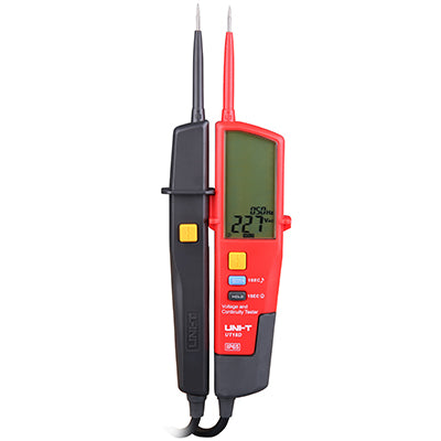 UT18D Auto Range Voltage and Continuity Tester with LCD Backlight Date Hold RCD Test and Self-inspection - Techtonics