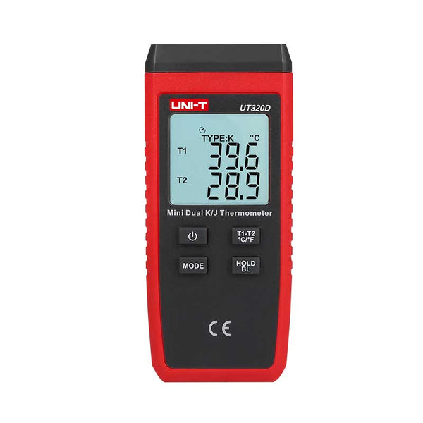 Uni-T UT320D Mini Contact Type Thermometer K/J Thermocouple Probe Selection With LCD Backlight Temperature Measurement