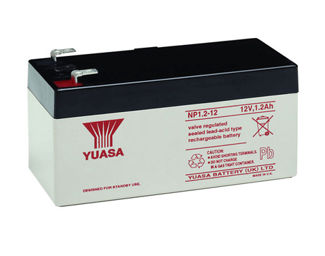 12V, 1.2A Rechargable Battery