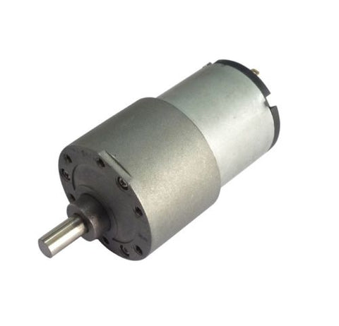 12v DC Gear, Geared Offside Motor 200 rpm High Torque - Off Side Shaft - Techtonics