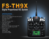 FS-TH9X 2.4GHZ 9CH TRANSMITTER RECEIVER– RC HELICOPTERS/ AIRPLANES / QUAD-COPTERS -1