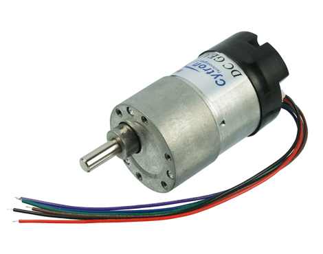 Dc geared motor with encoder 60rpm 12v tech3148 for Dc gear motor with encoder