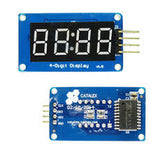 TM1637 4 Bits Digital Tube LED Display Module With Clock Display for Arduino - Techtonics