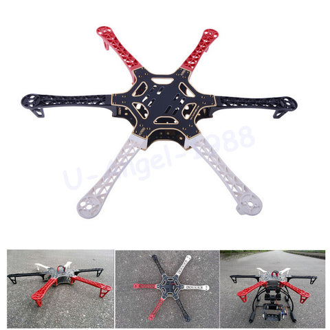F550 Hexacopter Frame With Integrated PCB For Easy Wiring - TECH2008
