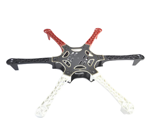 F550 Hexacopter Frame With Integrated PCB