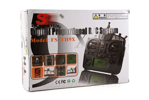 Flysky FS-TH9X 2.4 GHz 9-Ch Transmitter-Receiver RC Helicopters Airplanes Quad-copters - Techtonics