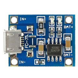 TP4056 - Micro USB 5V 1A Lithium Battery Charger with Protection - Converter Modules