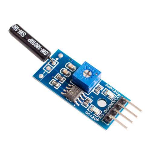 Vibration Sensor Module Normally Opened Type Vibration switch LM393 for Arduino - Techtonics