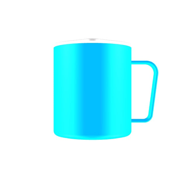 12oz Camp Cup 90 degree logo
