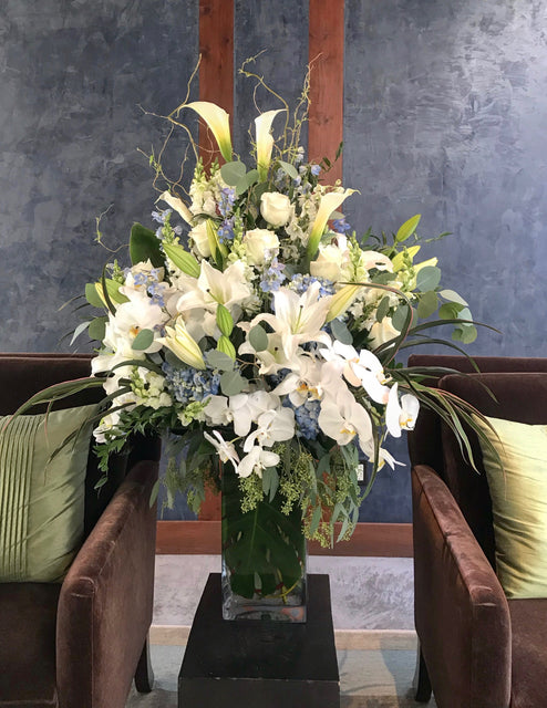 Sympathy flower arrangement from our condolences collection