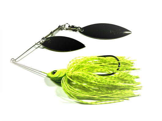 Chartreuse Spinnerbait Double Willow/Nickle
