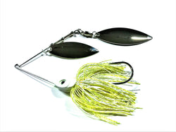 White/Chartreuse Double Willow/Nickle