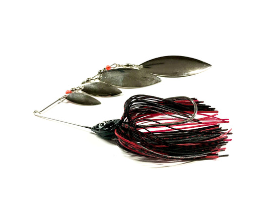 Black/Red Super Quad Spinner bait