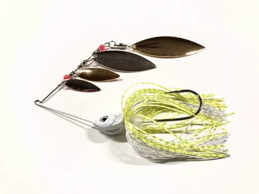 Chartreuse/White Super Quad Spinner Bait