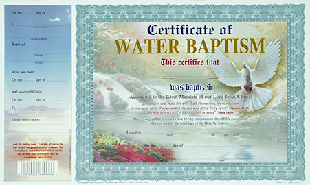 12108 Certificate of Baptism