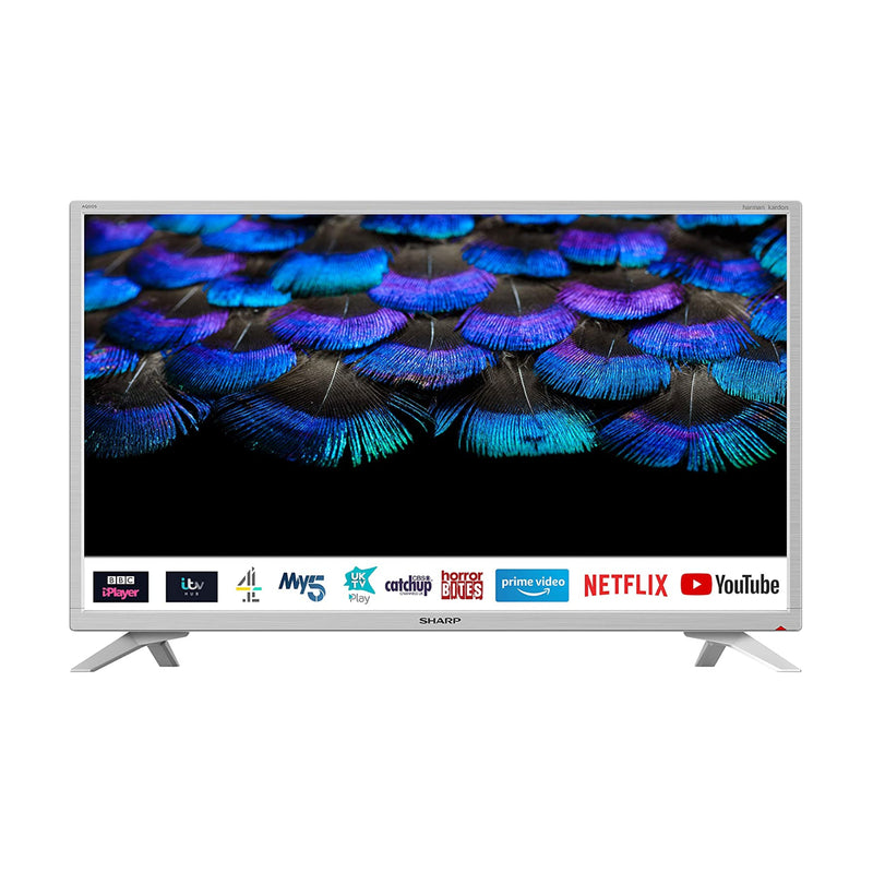 "Sharp 1T-C32BC2KH2FW 32"" Inch HD Ready Smart LED TV with Freeview HD - White"