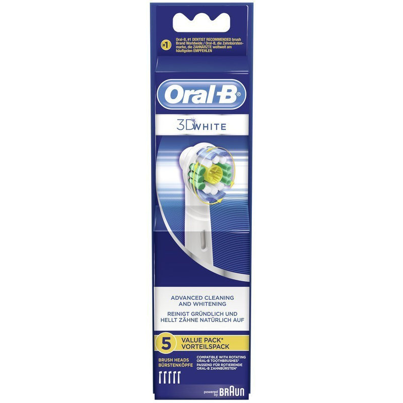 Braun Oral-B 3D White Replacement Toothbrush Heads - 5 Pack