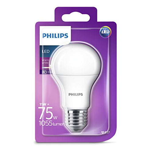 Philips 11 - 75W Frosted E27 Edison LED Bulb 1055lm - Warm White