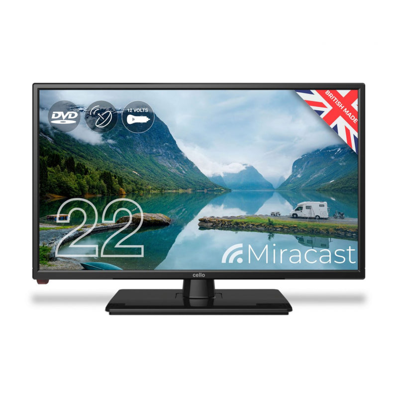 "Cello 22"" Inch Full HD LED TV Television with Freeview and Built-in DVD Player"